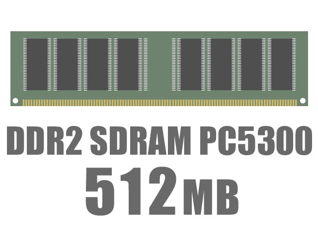 DIMM DDR2 SDRAM PC5300 512MB CL5 バルク