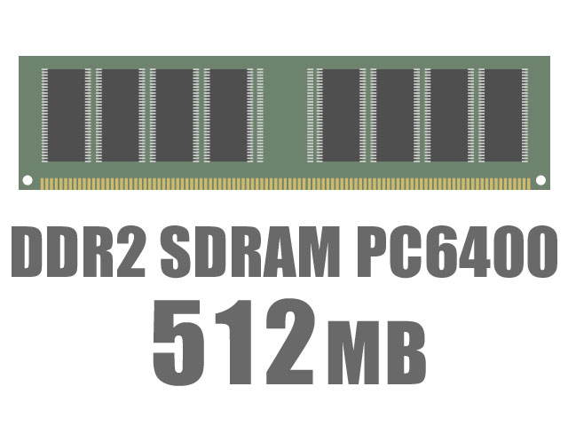 DIMM DDR2 SDRAM PC6400 512MB CL5 バルク