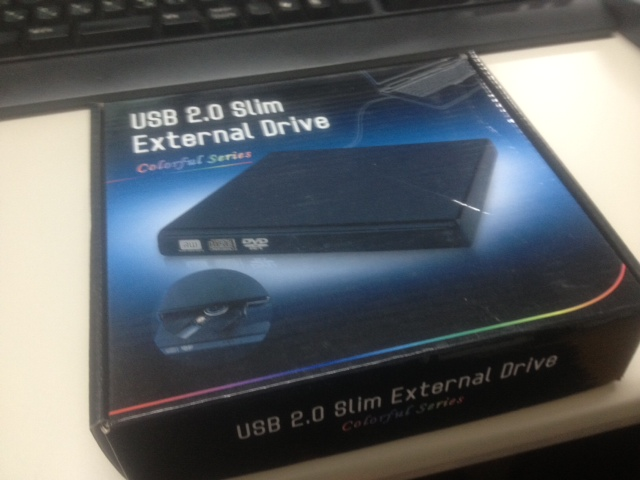 USB2.0 SLIM EXTERNAL DRIVE SATA/BLACK [外付ドライブケース]