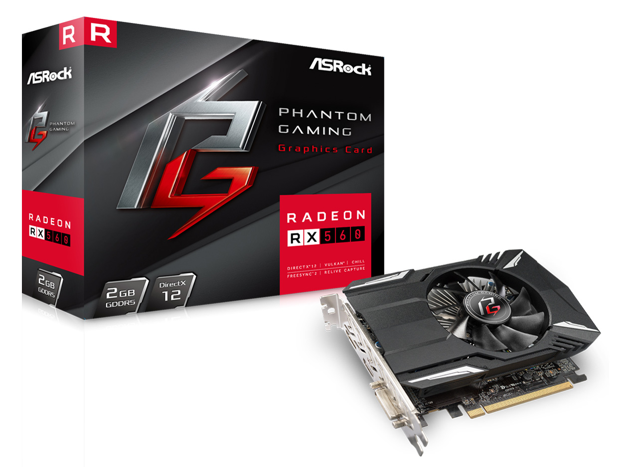 Phantom Gaming Radeon RX560 2G [PCIExp 2GB]