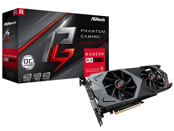 Phantom Gaming X Radeon RX590 8G OC [PCIExp 8GB] /アウトレット