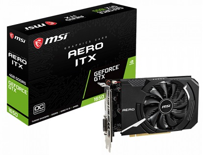 GeForce GTX 1650 AERO ITX 4G OC [PCIExp 4GB]